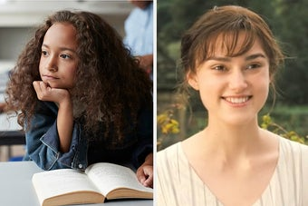 Girl reading and Elizabeth Bennet from