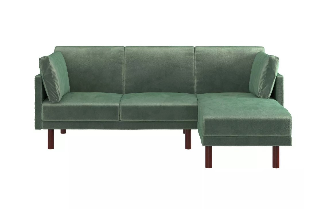 Green sectional futon