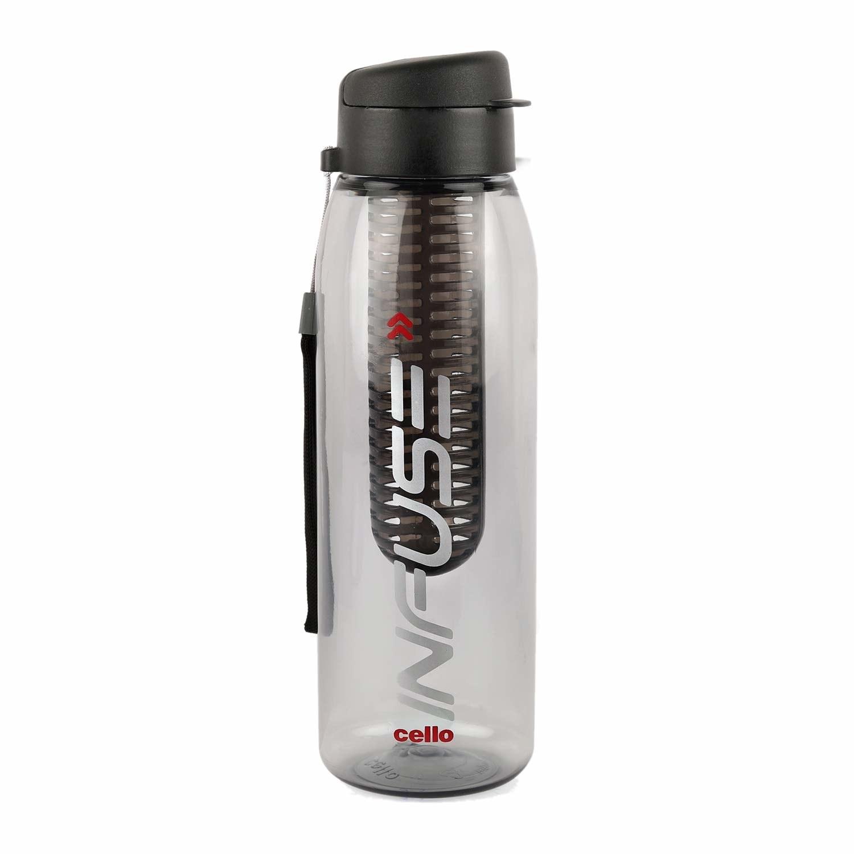 A grey infuser water bottle