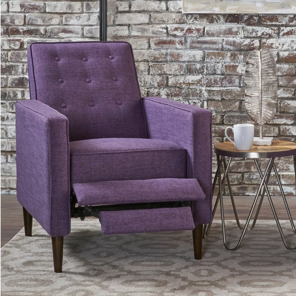 The purple recliner