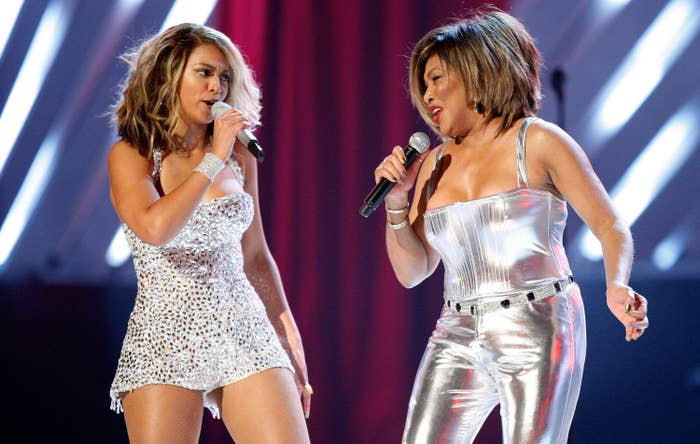 Beyonce and Tina Turner perform
