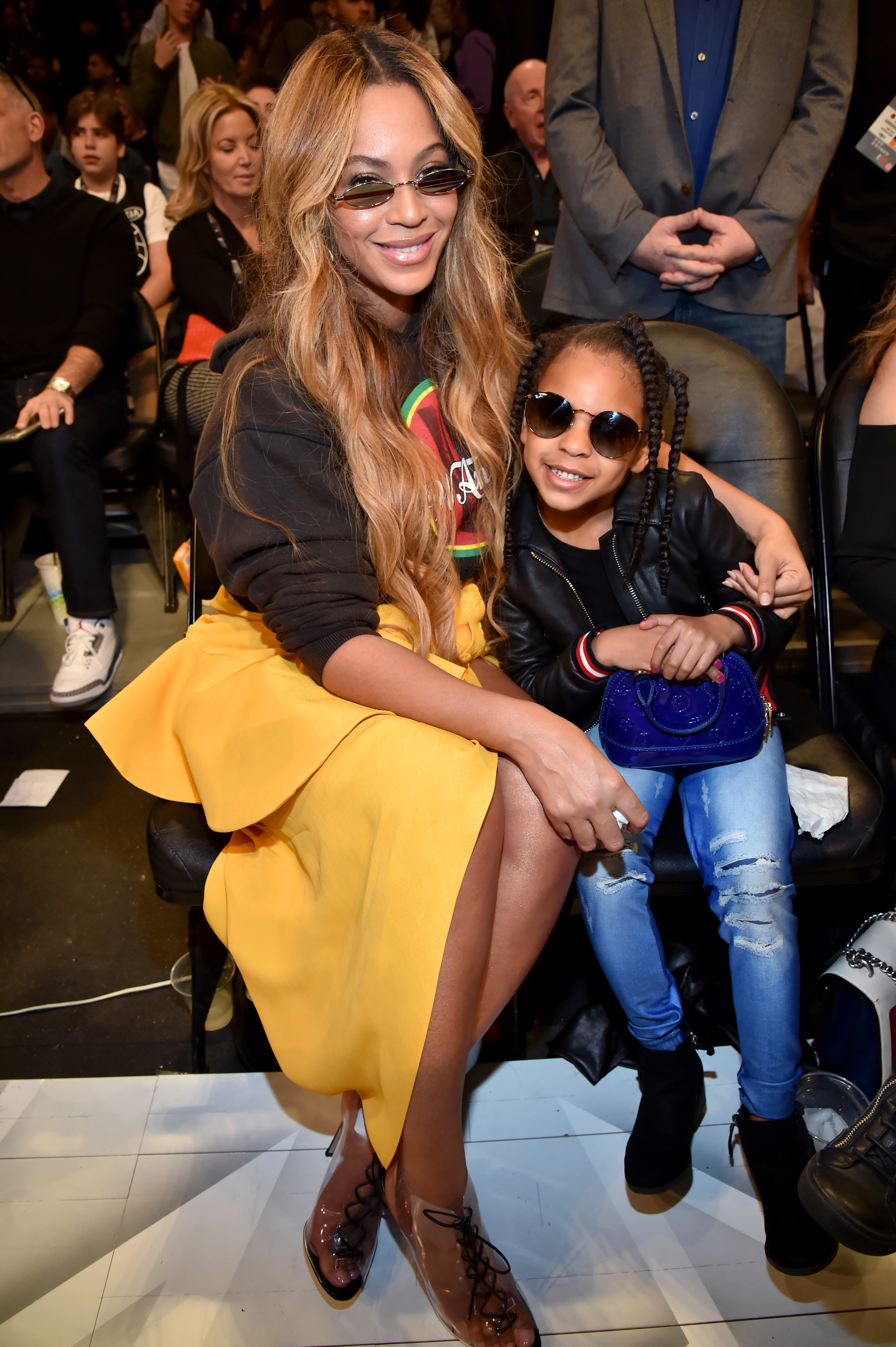 Beyoncé and Blue Ivy at the 2018 NBA All-Star Game