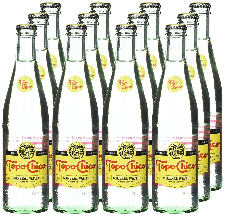 12 bottles of Topo Chico