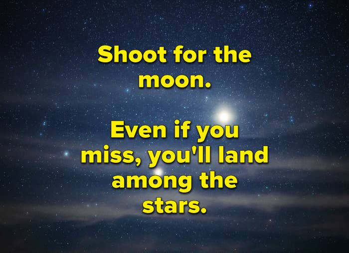 Shoot for the moon inspirational poster