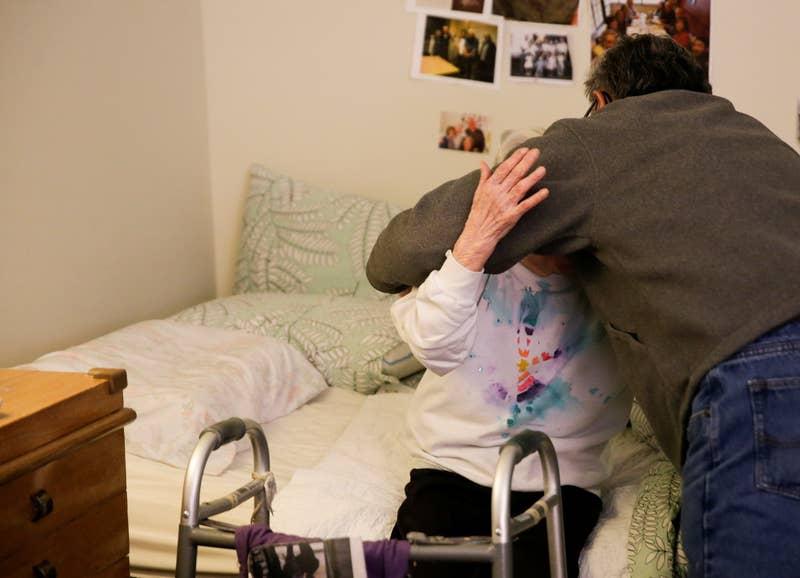Yoshia and Mark hug