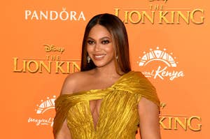 Beyoncé at the European premiere of The Lion King