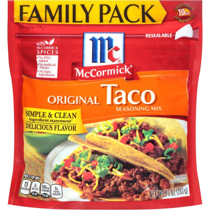 the red bag with a photo of tacos