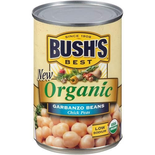 the yellow can of chickpeas
