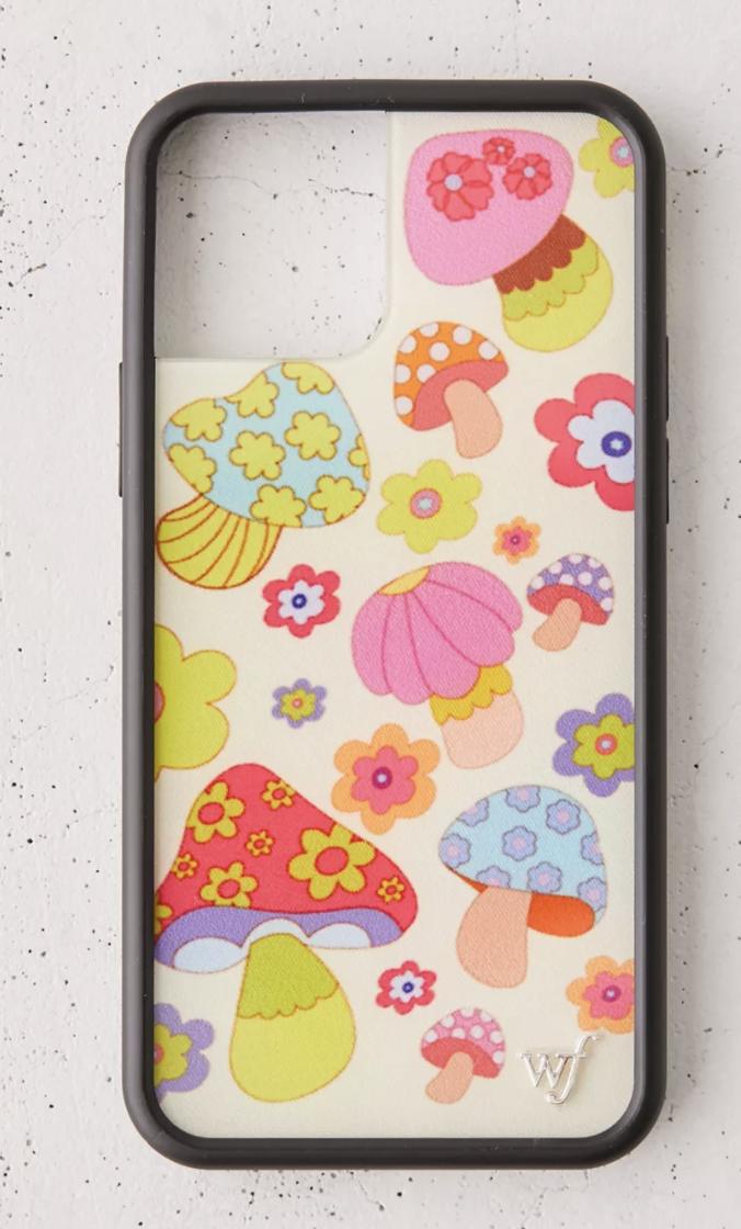 wildflower mushroom phone case