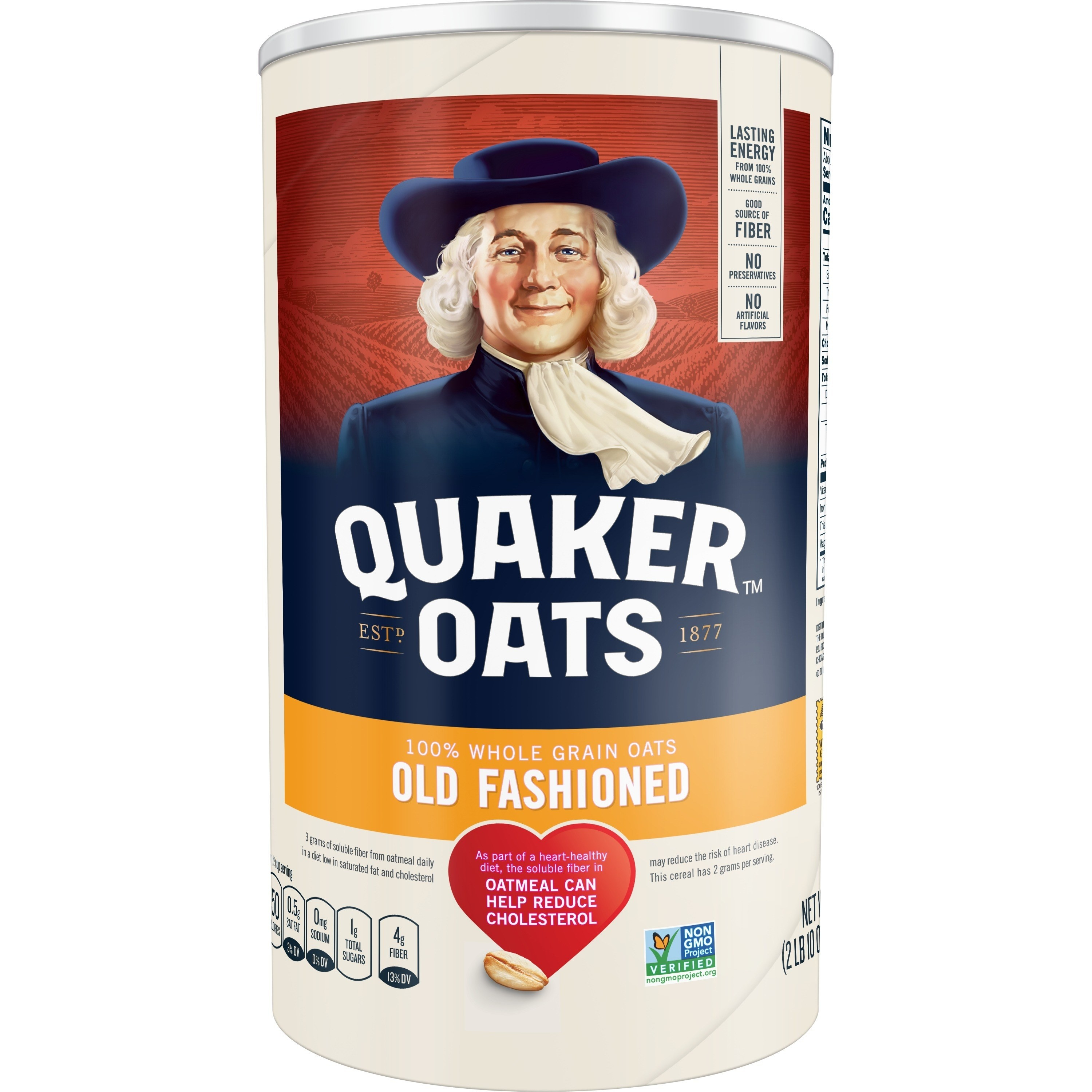the canister of oats
