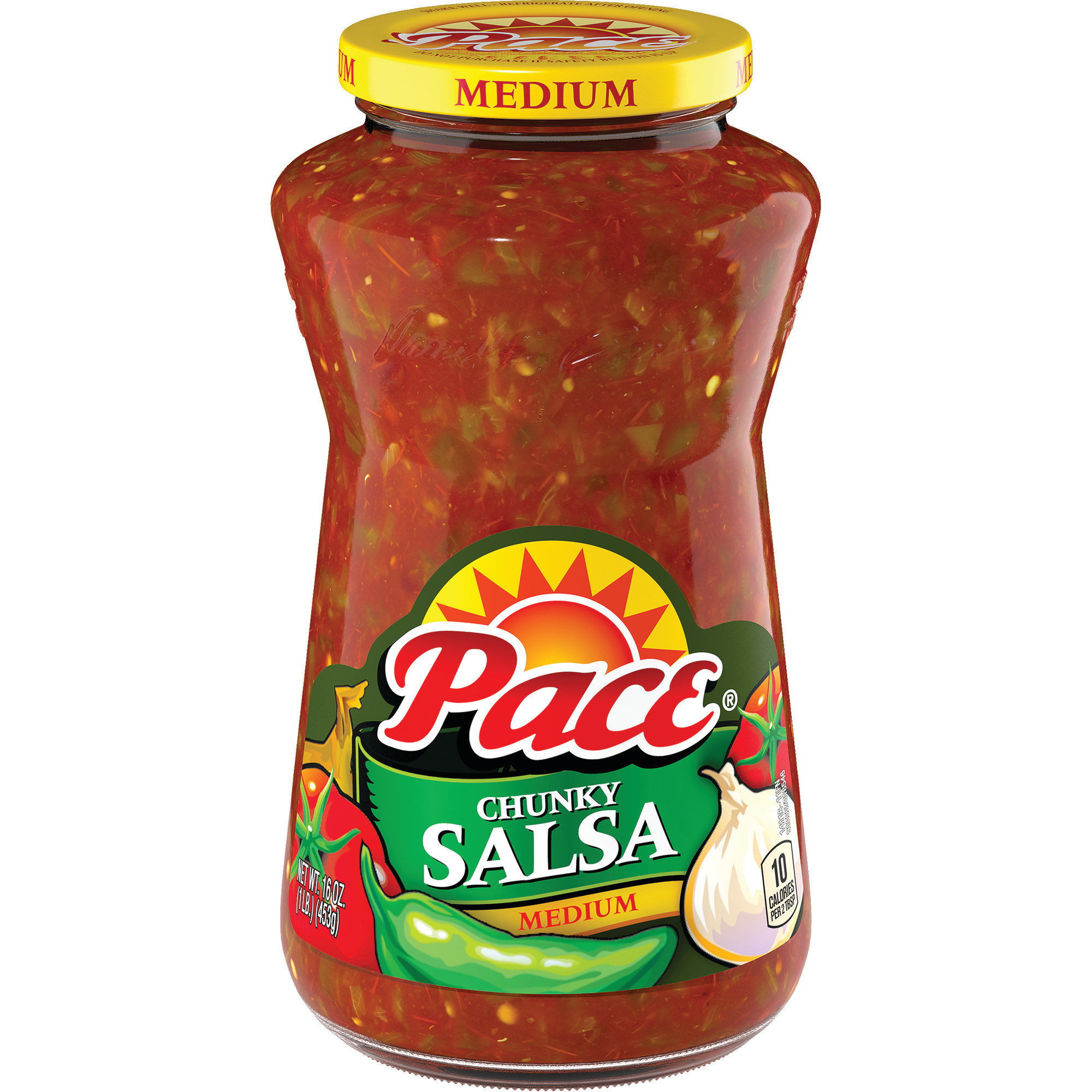 the red jar of salsa