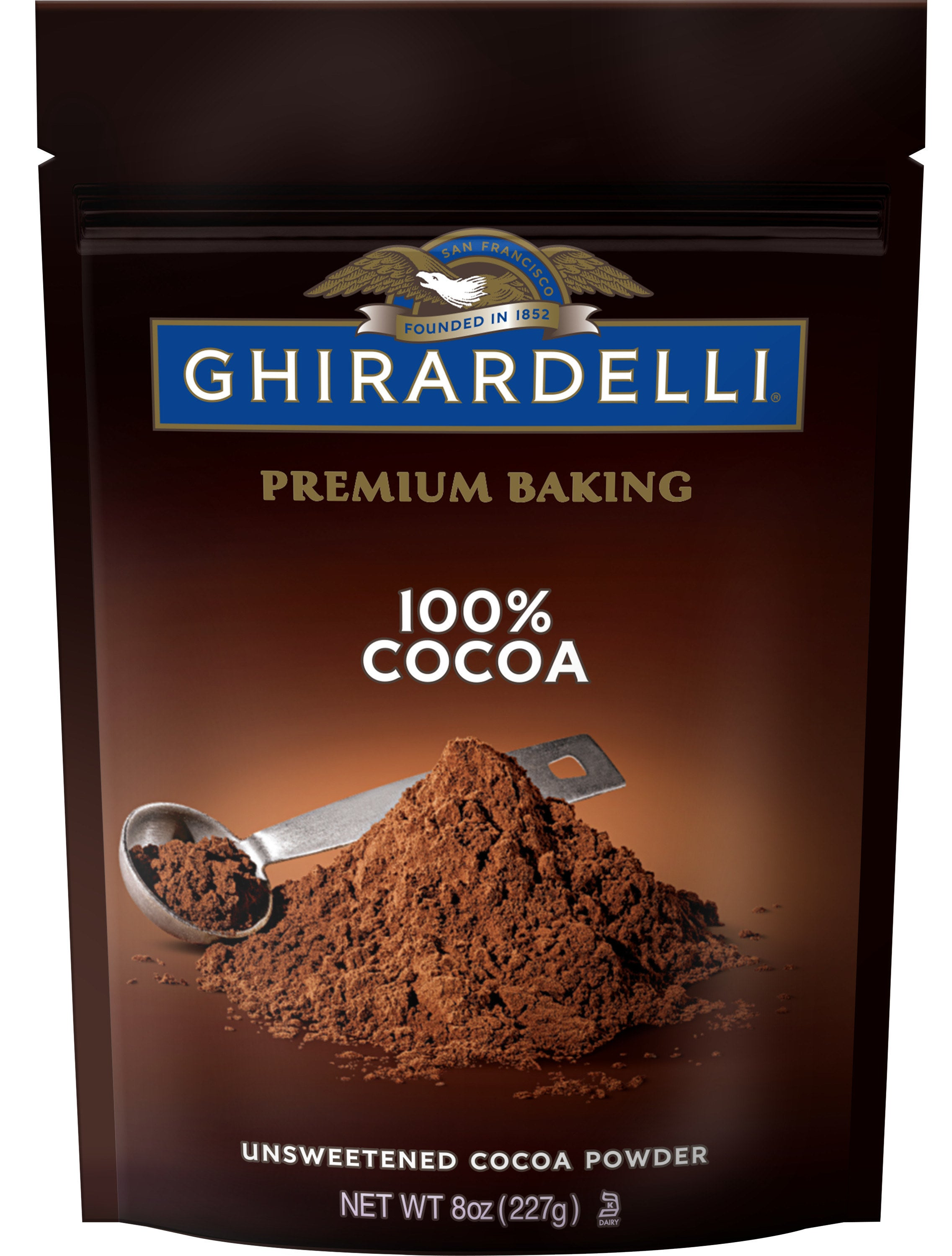 the brown bag of cocoa powder