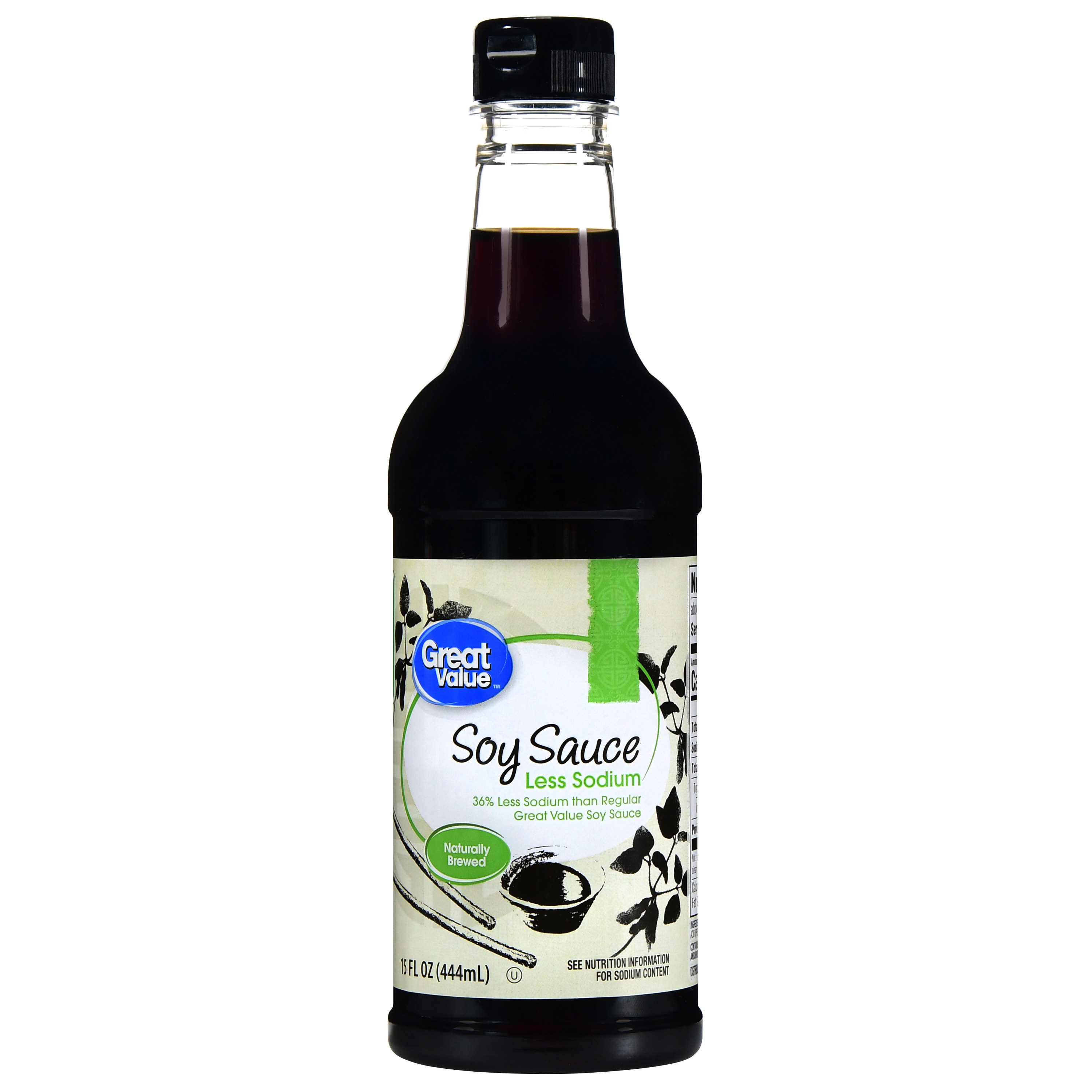 the bottle of soy sauce