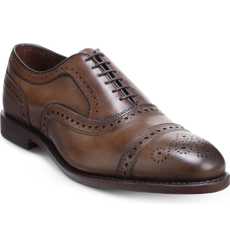 The shoe in light brown