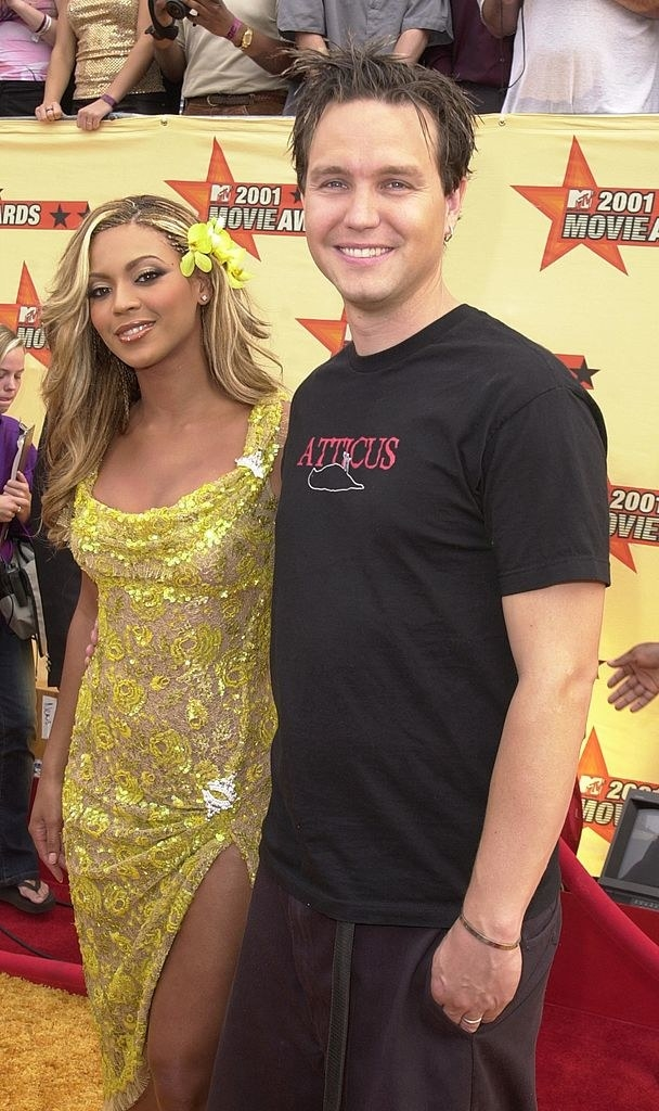 Mark with Beyonce on the red carpet of the MTV Movie Awards