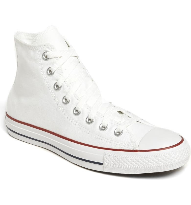 The shoes in Optic White