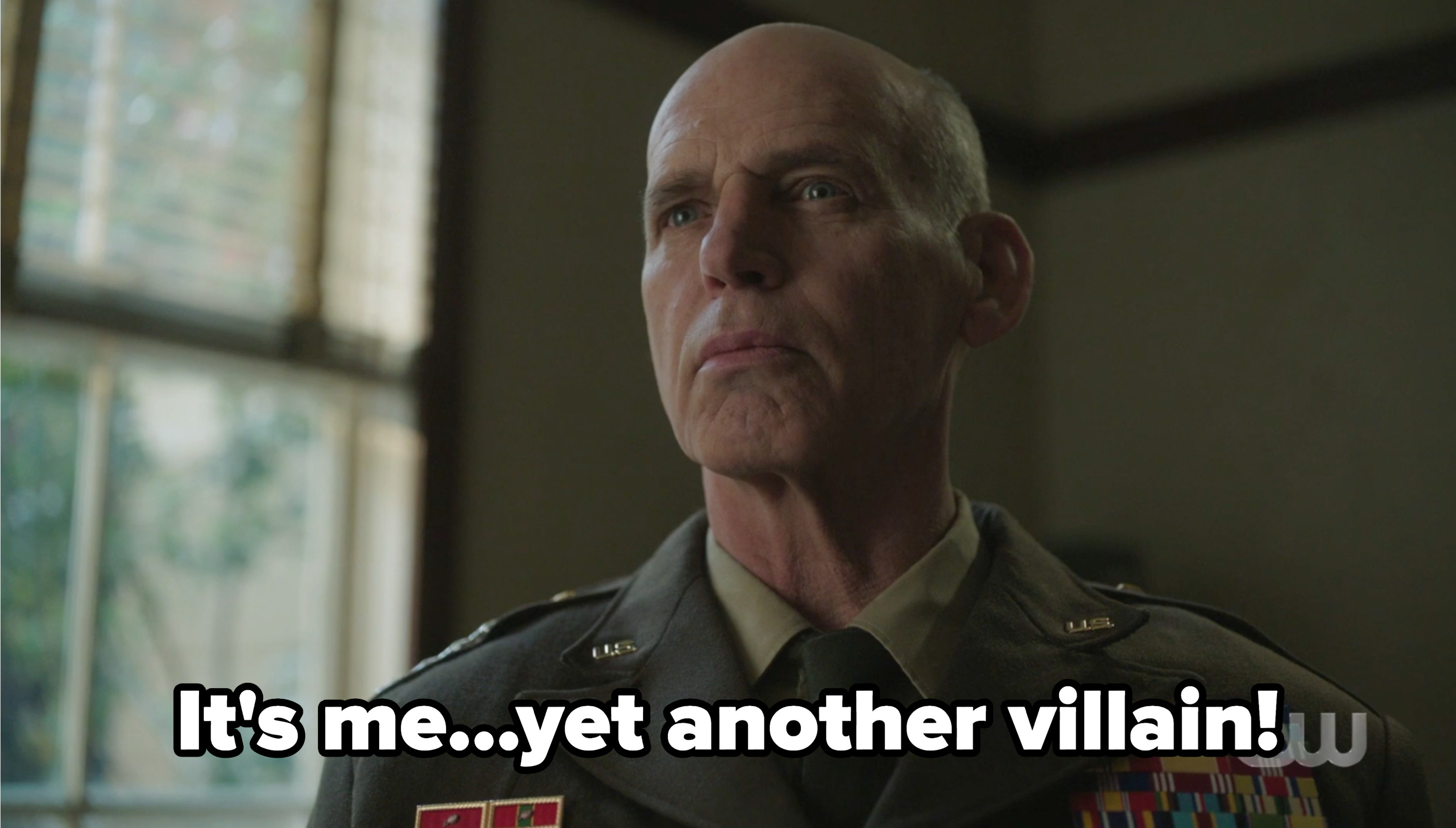 """General Taylor with the caption """"It's me...yet another villain"""""""