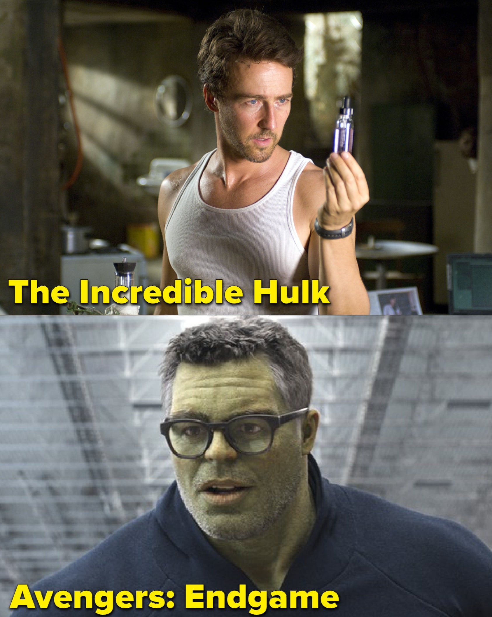 Norton and Ruffallo as The Hulk, respectively
