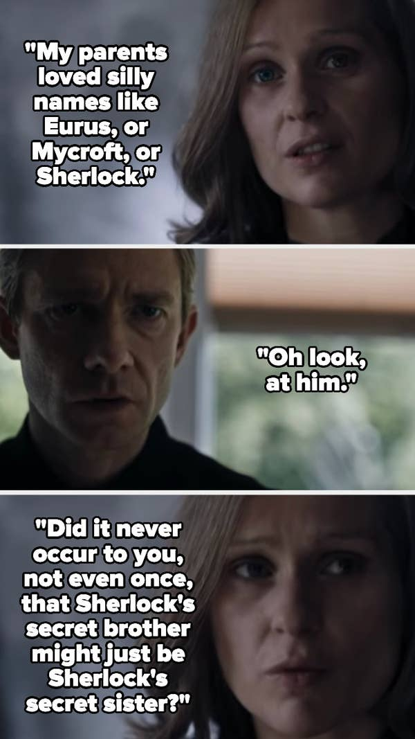 4. Season 4 ofSherlock: It took such a turn in the fourth season. Suddenly, everyone was hiding these dark secrets, and people were coming back from the dead as ghosts.