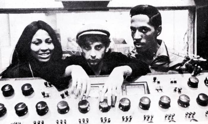 Ike and Tina Turner with Phil Spector