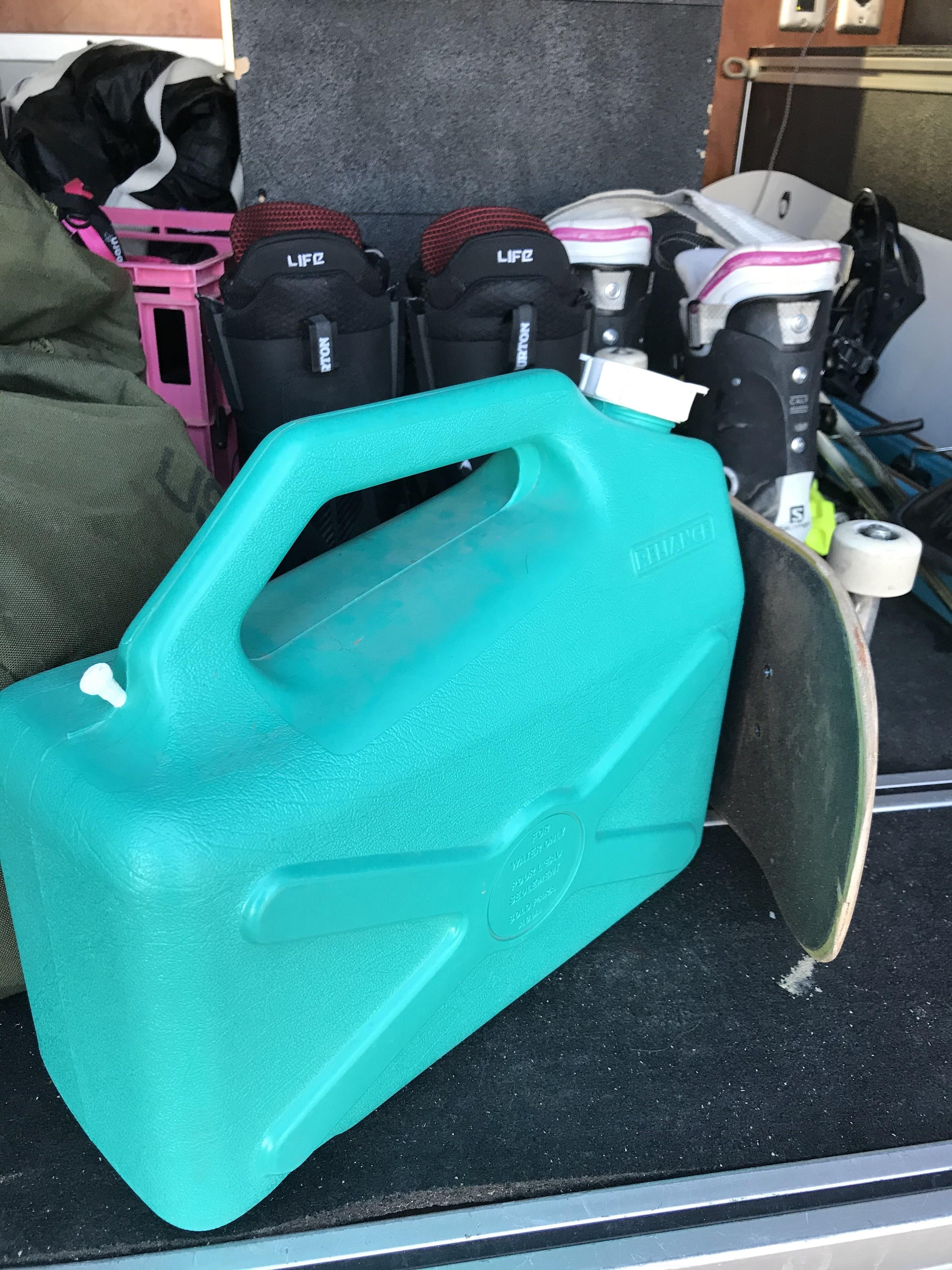 Bright green jug of water