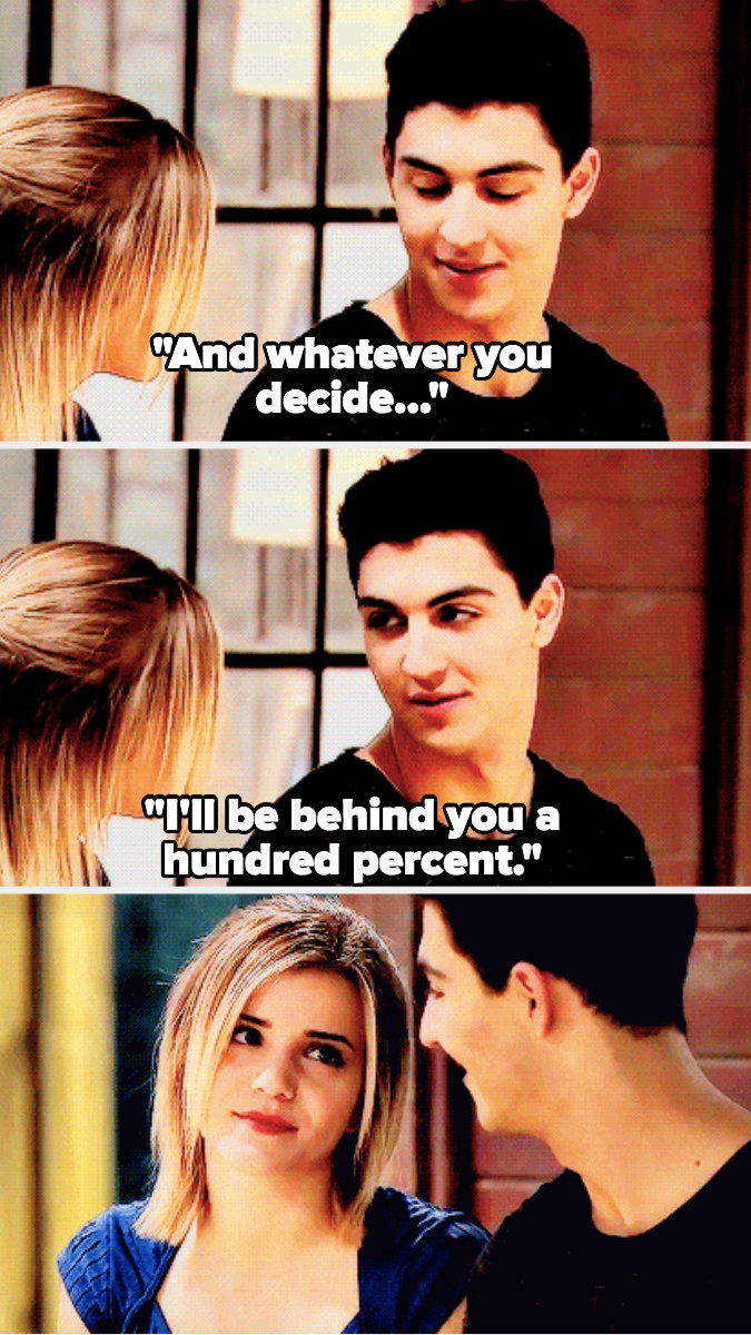 James tells Riley he'll be behind her a hundred percent