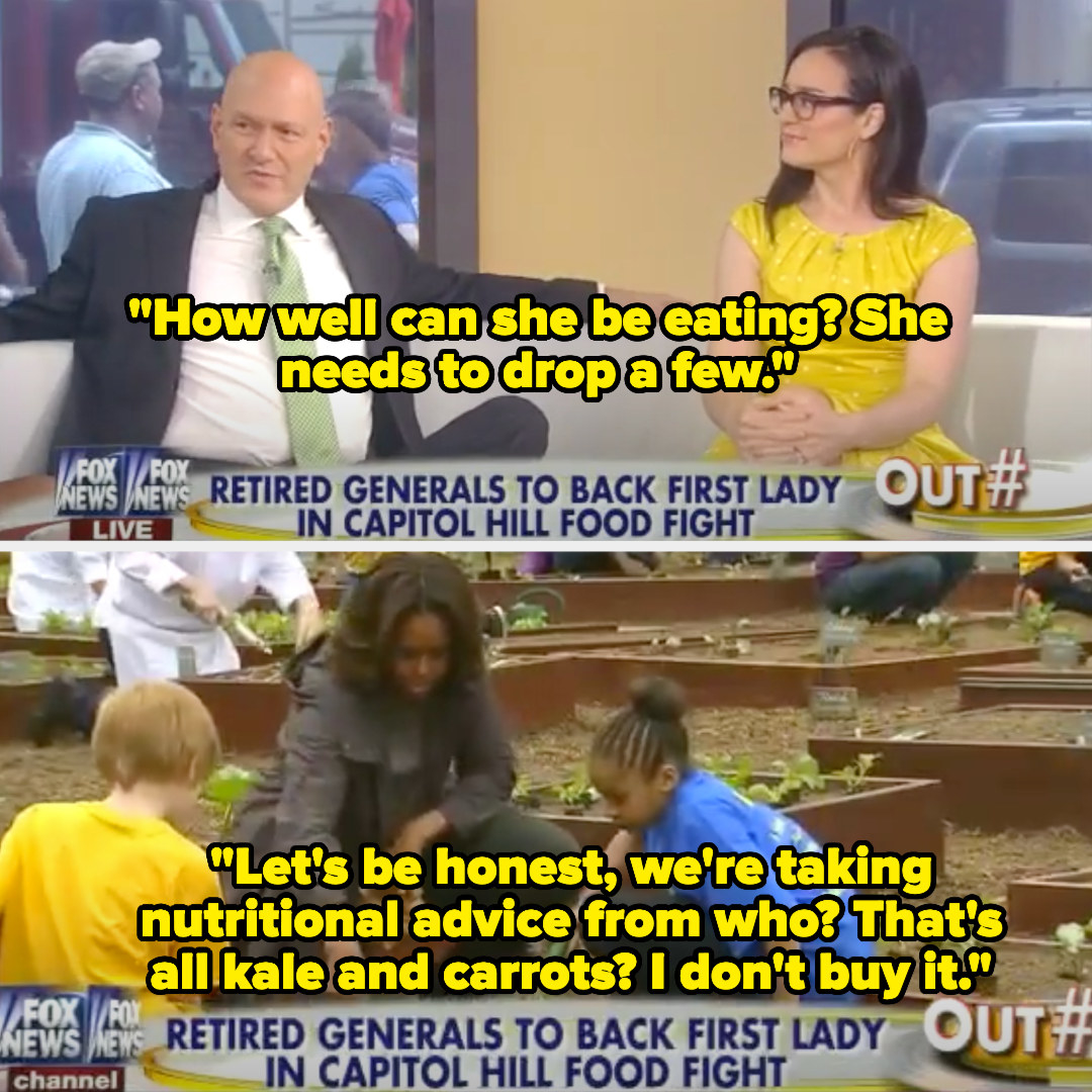 A talk show host saying that Michelle Obama needs to drop a few pounds