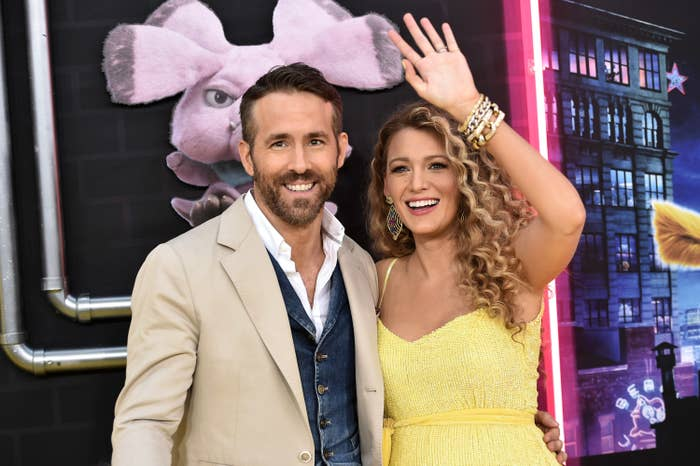 Ryan Reynolds and Blake Lively at the Detective Pikachu premiere in 2019