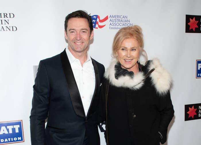 Hugh and Deborra on a red carpet