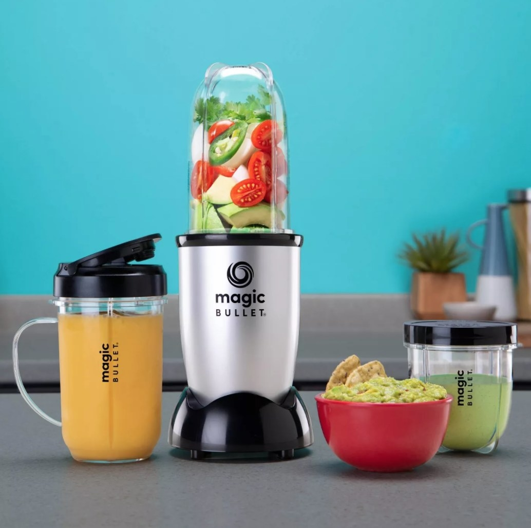 An 11-piece Magic Bullet blender set