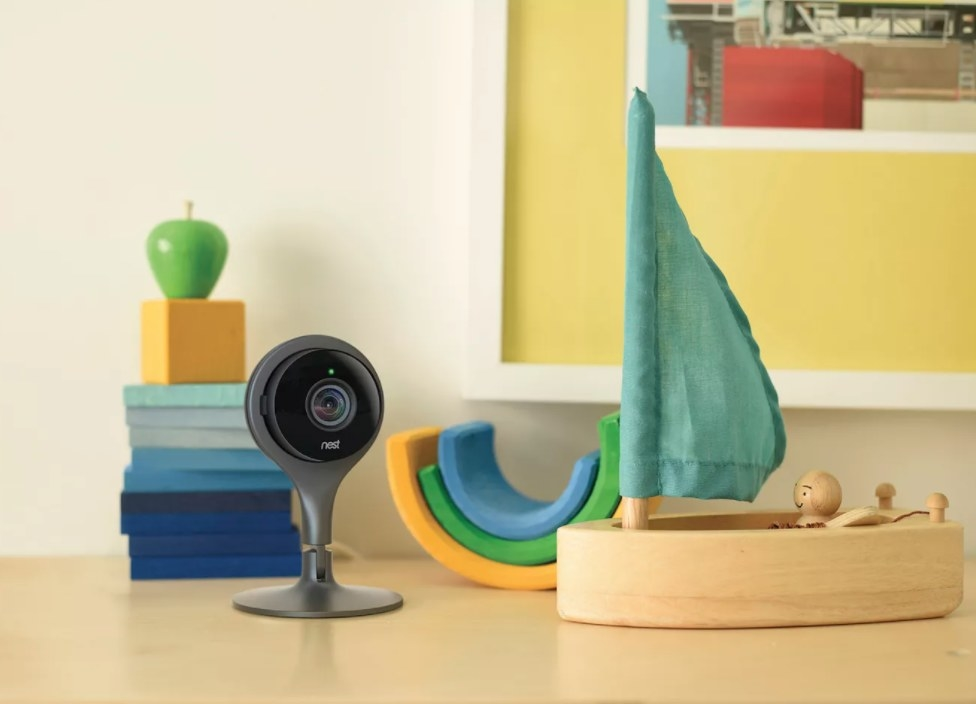 A small Google nest camera