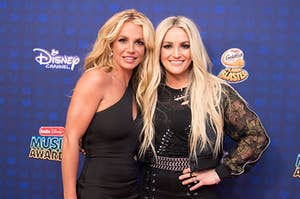 Britney Spears (L) and Jaime Lynn Spears turned out for the 2017 Radio Disney Music Awards (RDMA), music's biggest event for families,