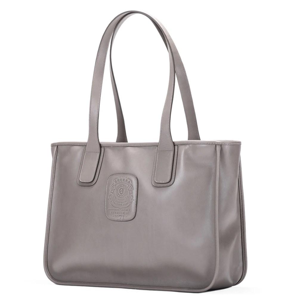 Leather bag.