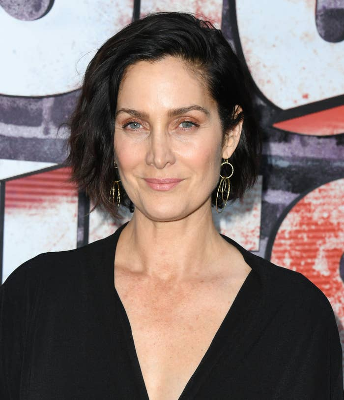 Carrie-Anne Moss at a screening of season three of Jessica Jones