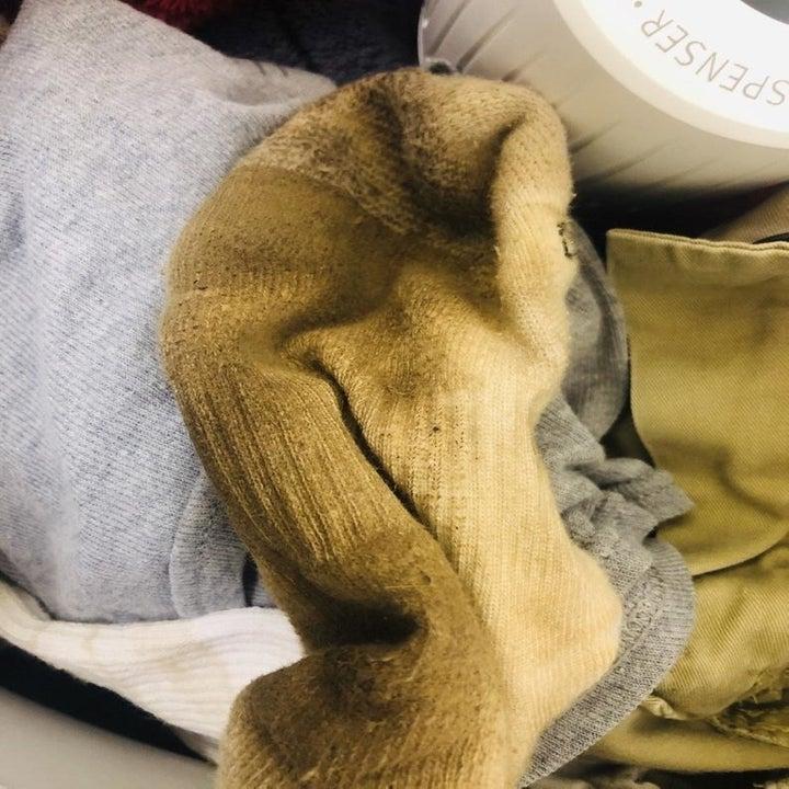 Dirty brown sock