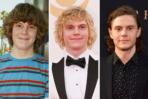 Evan Peter's transformation over the years: From a teen, to his iconic blonde hair on the red carpet, to his more recent swoon-worthy long hair