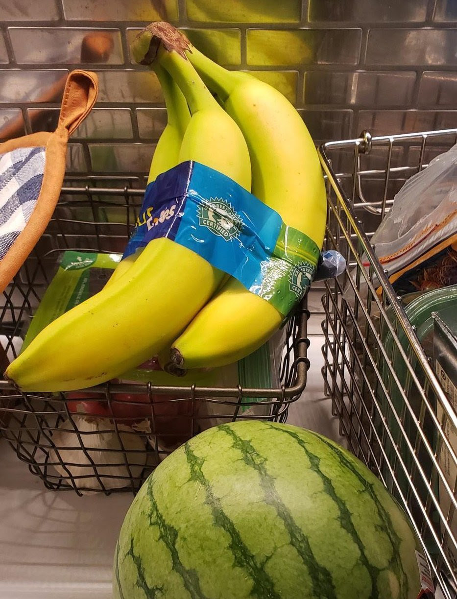 buzzfeed editor's bundle of bananas and a watermelon