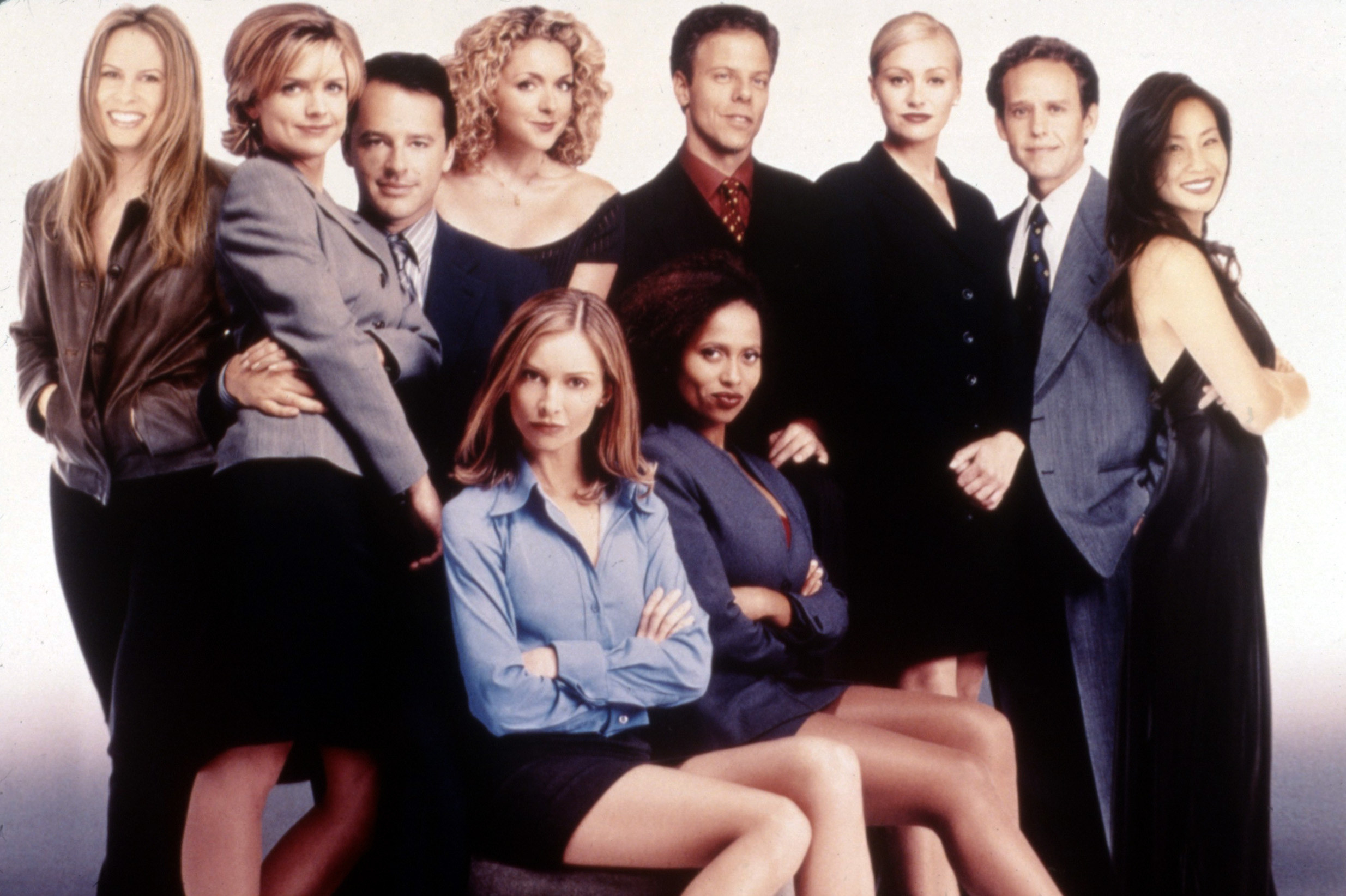 The cast of Ally McBeal