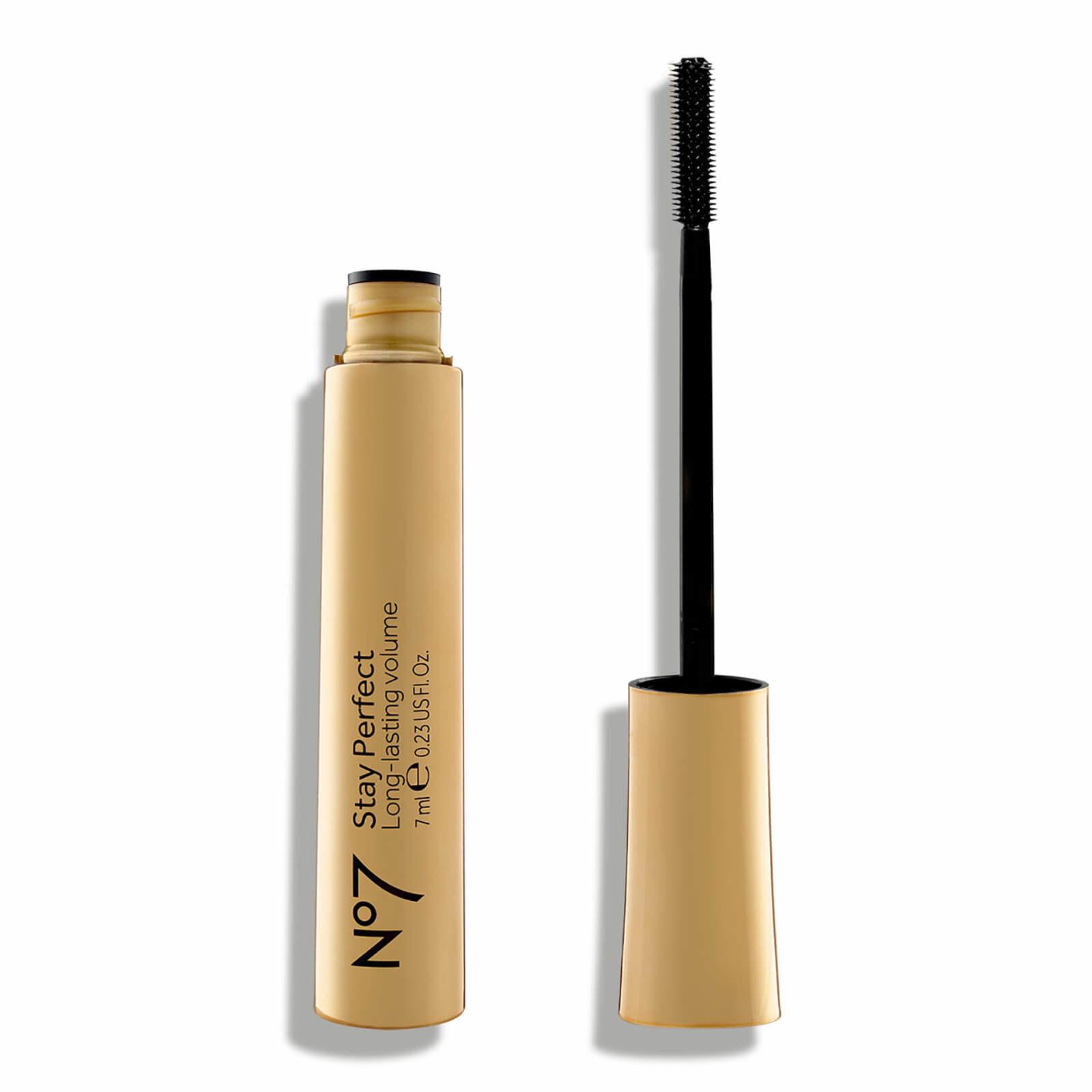a gold tube of black mascara