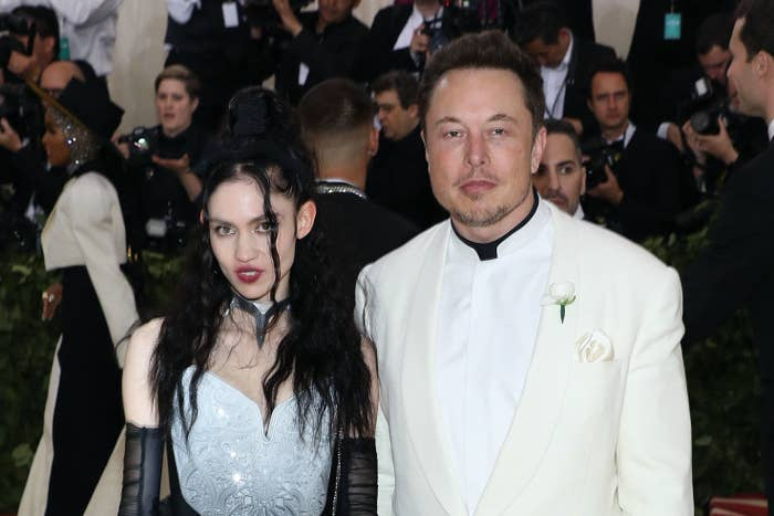 grime and elon musk at met gala