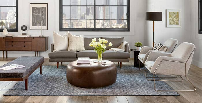 A living room tastefully decorated with furniture from Article