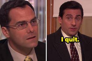 Michael Scott quitting