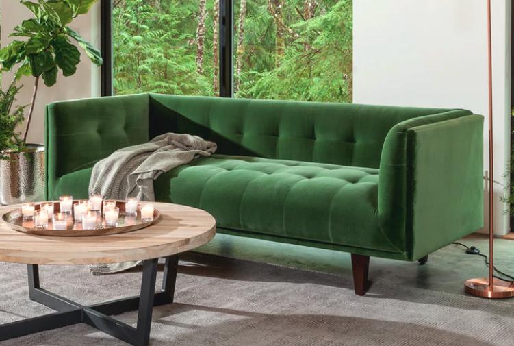 The velvet Cirrus sofa