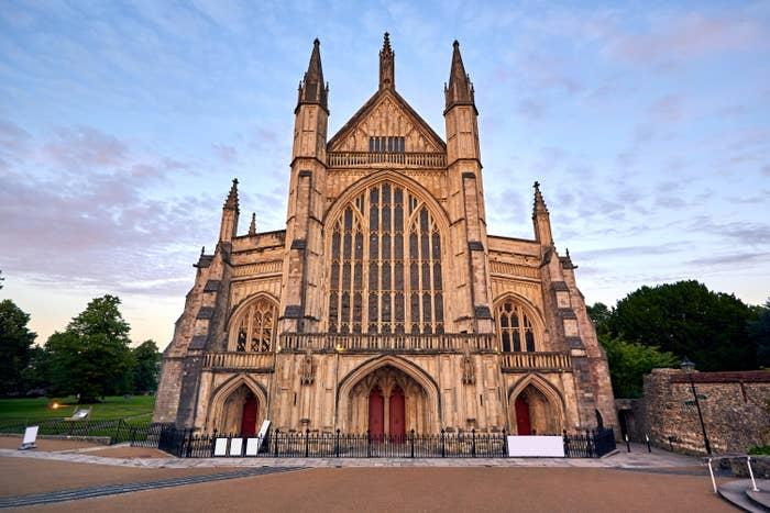 An elaborate church with spires