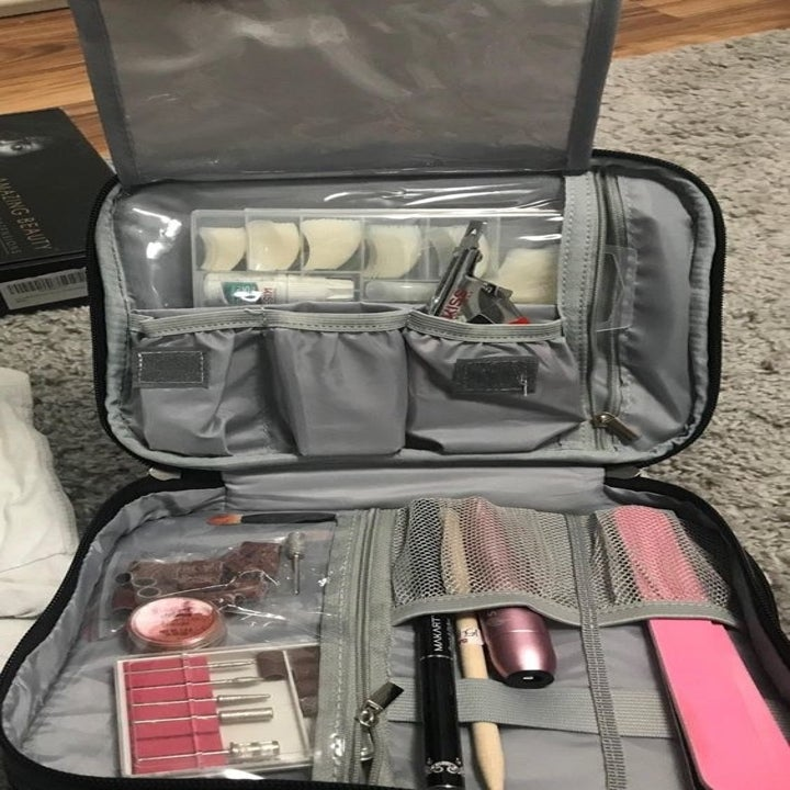 The case with different accessories and tools