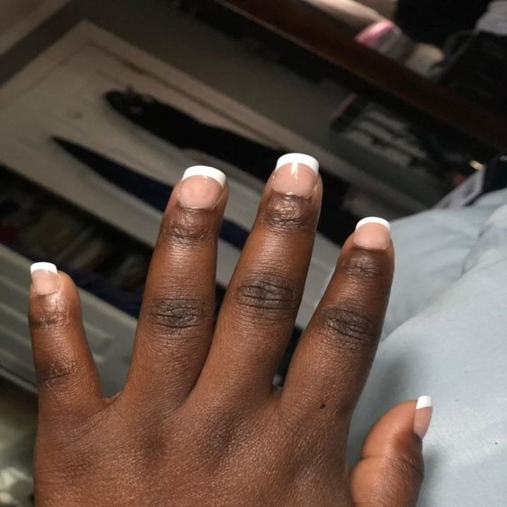 Reviewer showing off the nails