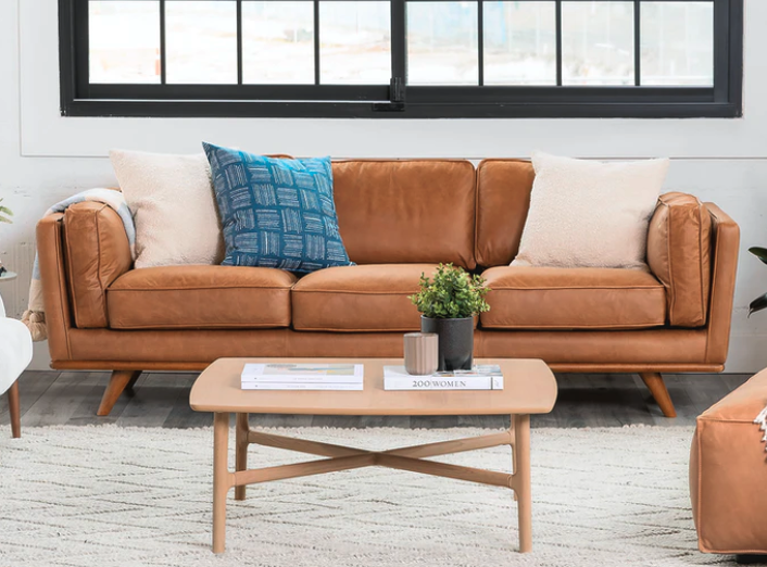 The leather Timber sofa