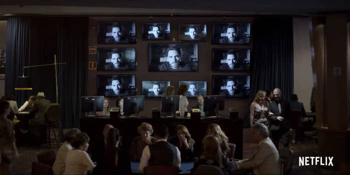 A scene of a video being played in Who Killed Sara?