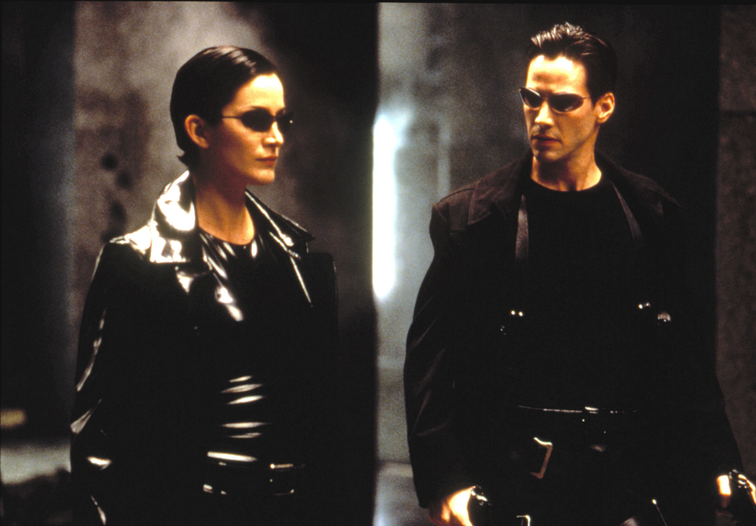 Moss and Keanu Reeves in The Matrix