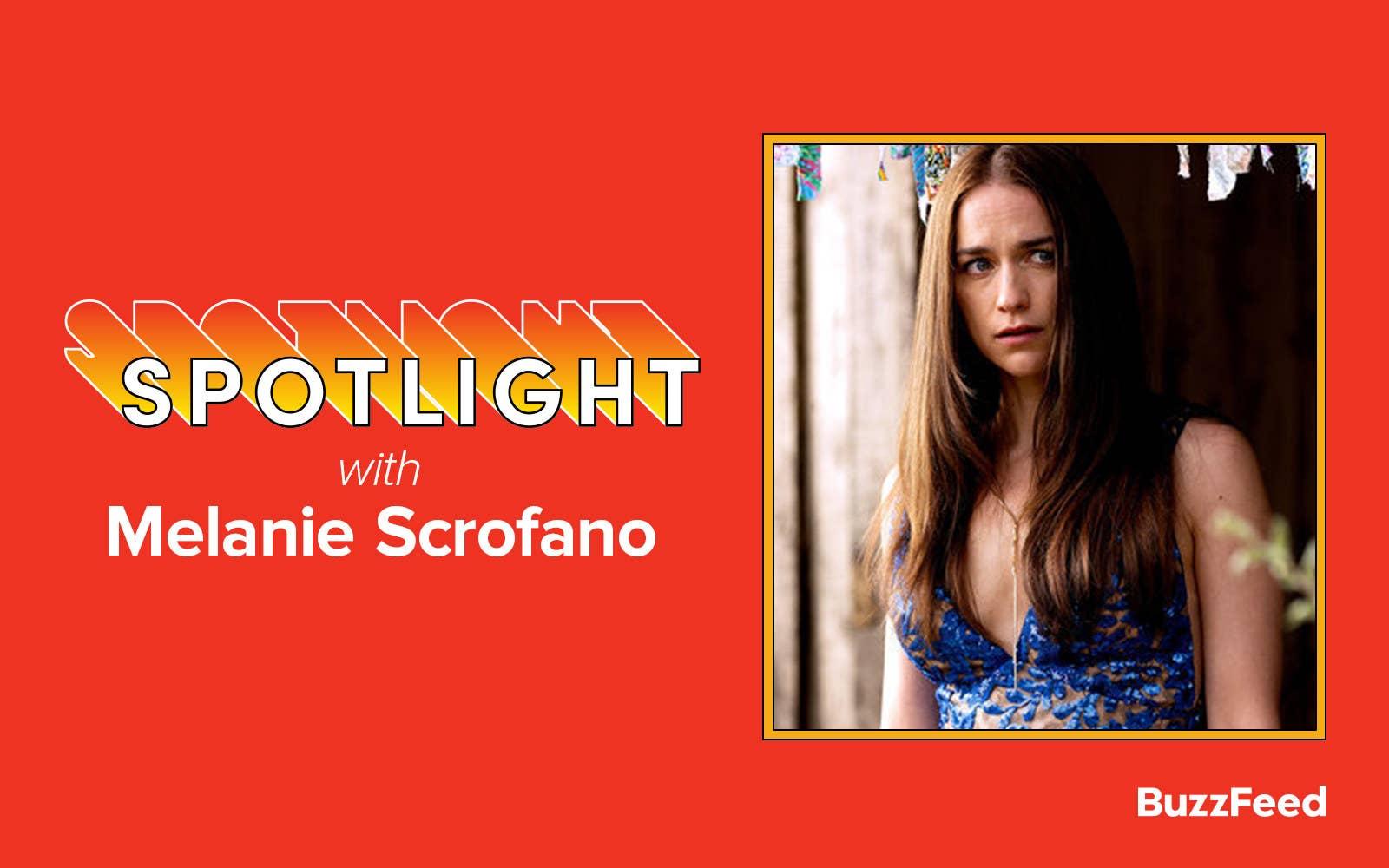 """A header reading """"Spotlight with Melanie Scrofano"""""""